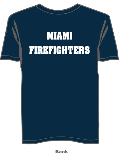 Fireman T-Shirt navy blue