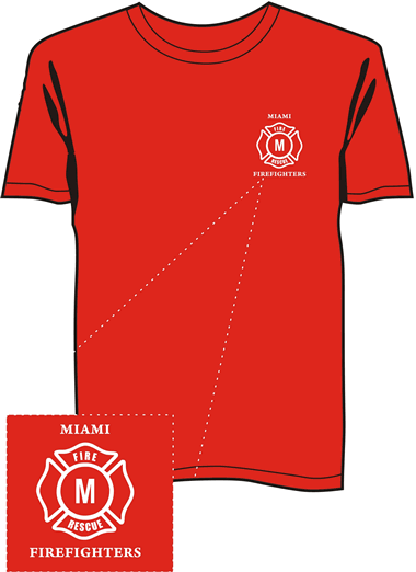 Firefighter T-Shirt red